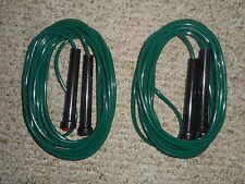 NEW-2-16 FT DOUBLE DUTCH JUMP ROPE-LONG-SPEED-GREEN-VINYL-SCHOOL-COMPETITION