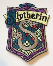HARRY POTTER Slytherin Iron Sew On Patch Badge crest World Book Day Fancy Dress