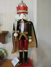 Red Green Gold Silver Nutcracker Christmas Royal King Sequins Robe