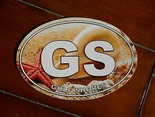 """Gulf Shores   Auto/Refrigerator Decal/Sticker  """"On The Sand""""   New"""