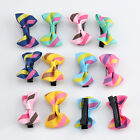 New 12pc Cute Toddler Girl Baby Ribbon Bow Hair Clip Kind Satin Bowknot Headband