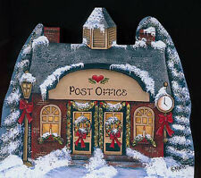 Brandywine Woodcraft Santa's Village: POST OFFICE Wooden Shelf Sitter CHRISTMAS