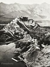 1934 Vintage TIBET POTALA PALACE Photo Architecture Dalai Lama Landscape 11x14