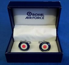 ROYAL AIR FORCE CUFFLINK SET - RAF ROUNDEL - IDEAL TROPHY MENS GIFT RAF182