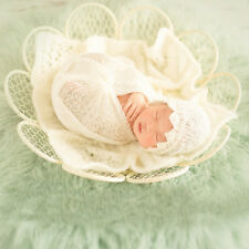 Newborn Baby Flower Style  Metal Basket Photography Studio Photo Props