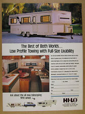 1989 Hi-Lo Travel Trailer exterior & interior photo vintage print Ad