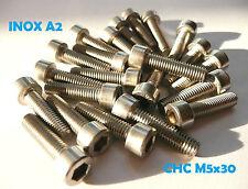 16 vis CHC INOX A2 M5 x 30 mm DIN912
