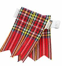 ROYAL STEWART TARTAN  ADULT GARTER SOCK SCOTTISH KILT FLASHES 4 KILTS SPORRANS