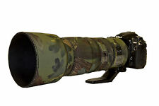 Nikon 200 500mm f5.6 ED VR Neoprene lens protection cover Woodand Green Camo