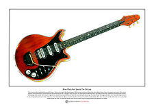 Brian May's Red Special Limited Edition Fine Art Print A3 size