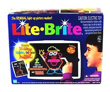 ✨ LITE BRIGHT Vintage Original with BOX Pegs And refill Sheets EUC