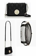 NEW KATE SPADE ASTOR COURT NAOMI QUILTED LEATHER BLACK CROSSBODY CLUTCH WKRU3570