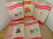 VTG Lingerie Sewing Patterns Pettipants, Panties, Chemise Slip, Girdle LOT OF 5