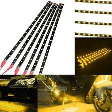 6PCS Waterproof 12''/15 DC 12V Motor LED Strip Light For Car Motorcycle Yellow