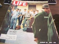 VINTAGE LIFE - 8/20/65 - THE DRAFT - FORT KNOX -  VG - GREAT ADS