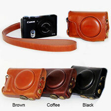 Leather case bag cover Grip Strap for canon powershot S100 S110 S120 S200