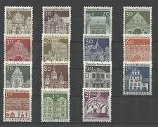 Bund 489 -  503 postfrisch BRD Deutsche Bauwerke II Freimarken MNH