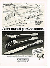 PUBLICITE  1982   CHABANNE  art de la table couverts