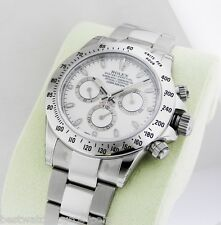 Rolex 116520 Daytona Stainless Steel WHITE Dial RANDOM 40mm WOW, COMPLETE!
