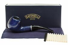 Savinelli Arcobaleno 626 Blue Tobacco Pipe - Smooth