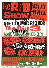 "Rolling Stones The Big Three Sheffield 16"" x 12"" Photo Repro Concert Poster"