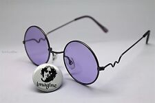 IMAGINE PIN OF JOHN LENNON WEARING SUNGLASSES + PURPLE GLASS LENS /RANDOM FRAME
