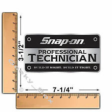 Snap On Tools Professional Technician Toolbox Decal Sticker