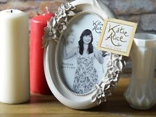 Katie Alice COLLECTION SMALL GRIGIO OVALE SHABBY CHIC FREE STANDING Photo Frame