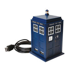 Dr Who: Official BBC Tardis 4 Port USB Station With Light & Sounds - New In Box