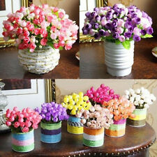 Artificial Rose Silk 15 Flower Head Leaf Wedding Hydrangea Home DIY Decoration
