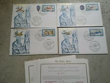 REPUBBLICA  4 BUSTE FDC 1981 SERIE GOLD CON CERTIFICATO   CAT. N° 1