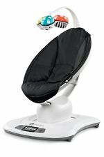 4Moms LCD MAMAROO SWING, Adjustable Electric BABY BOUNCER, Classic Black