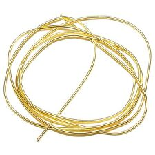 """WC311f French Wire Gold-Finish Coil 0.85mm Bullion Jewelry Component 27""""/pkg"""