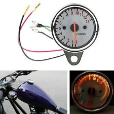 12V Universal Motorcycle Mechanica 13000RPM Scooter Analog Tachometer Gauge LU