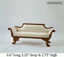 1:12 SCALE SILK SOFA DOLLHOUSE MINIATURES by IDM Heirloom Collection