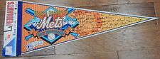 """New WinCraft World Champion New York Mets 25th Anniversary Full Size 30"""" Pennant"""