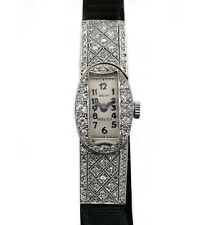 Vintage 20's Platinum Diamond Rolex Elegant Deco Ladies watch ロレックス