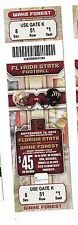 2012 FLORIDA STATE ST SEMINOLES V WAKE FOREST DEAMON DEACONS TICKET STUB 9/15/12