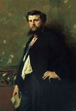 Oil painting Sargent - male portrait Edouard Pailler on canvas