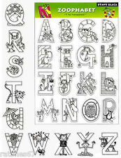 New Penny Black ZOOPHABET Clear Stamps Letter Alphabet A-Z Critters Girl Boy