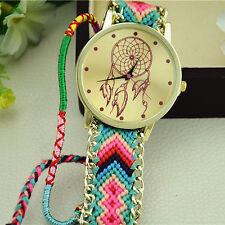 Fashion Womens Watches Dress Watch Lady Style Braid Bracelet Watch Free Shipping