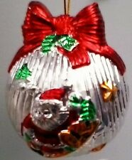 BABY'S FIRST CHRISTMAS SANTA ORNAMENT / BAUBLE - GLASS IN PRESENTATION BOX - NEW