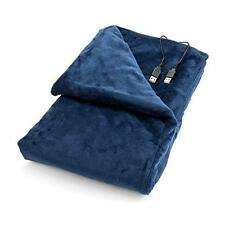 USB Heated Shawl and Lap Blanket - Blue Color - USB Heated Throw Perfect New