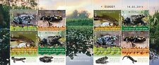 ISRAEL 2014  AMPHIBIANS IN ISRAEL  8 STAMP SHEET WITH GUTTER  MNH