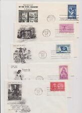 US FDC 1957 Year Set 15 First Day Covers All Cacheted All Unaddressed! |