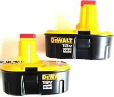 2 NEW GENUINE Dewalt 18 Volt DC9096 XRP Batteries For Drill, Saw etc18V Battery
