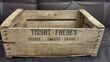 Vintage français en bois TISSOT PEAR fruits Crate Box-restaurant bar de l'hôtel décor