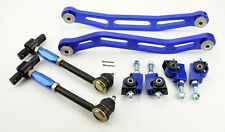 Honda Accord 94-97 Front Rear & Lower Control Arms Adjustable Camber Kit Blue