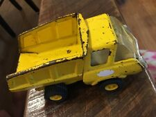 Vintage Tonka Yellow Metal Small Construction  Dump Truck #F