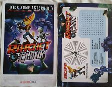 WonderCon 2016 Handout Ratchet & Clank Dual sided Movie Poster